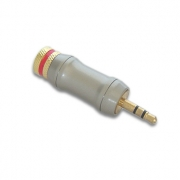 WT 0652 Wtyk Jack 3,5 stereo na kabel 9mm gold platyna